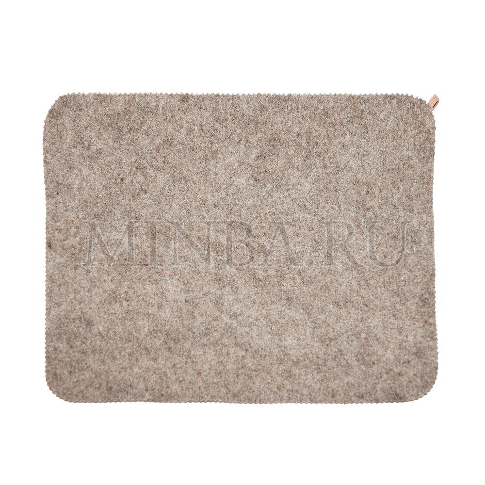 Войлочный коврик для бани (эконом серый)